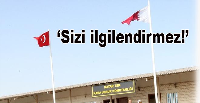 Türk üssü cevabı; Sizi ilgilendirmez!