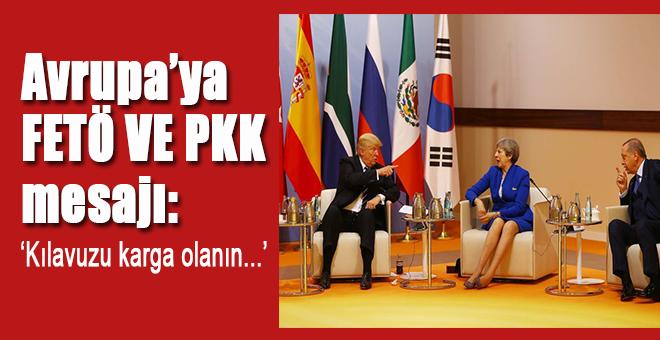 FETÖ ve PKK mesajı; Kılavuzu karga olanın...