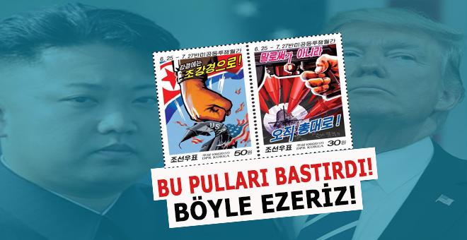 ABD'ye meydan okuyan devlet; Beyaz Saray'ın hedef alındığı pullar bastırdı!