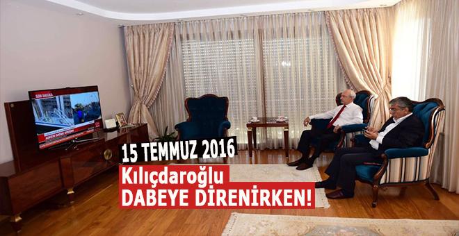 Kılıçdaroğlu'nun darbeye direnirkenki fotoğrafları ortaya çıktı!