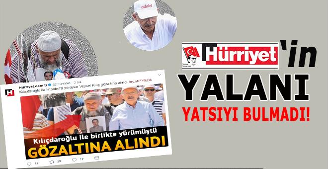Hürriyet'in gözaltı haberi yalan çıktı!