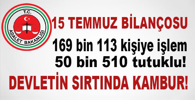 Adalet Bakanlığı 15 Temmuz bilançosunu açıkladı!