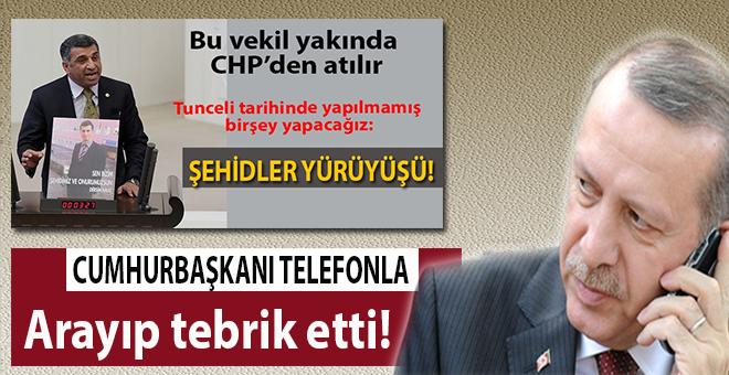 Cumhurbaşkanı Erdoğan'dan CHP Milletvekiline tebrik telefonu!