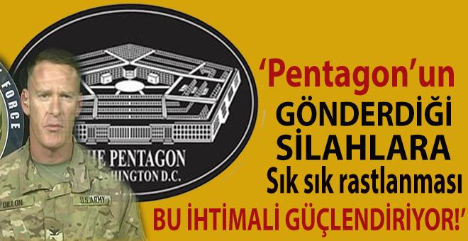 Pentagon'un gönderdiği silahlara sık sık rastlanılması bu ihtimalin güçlü olduğunun göstergesi
