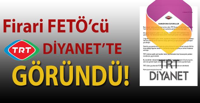 TRT'de yine FETÖ'cü göründü!