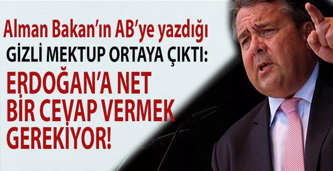 Alman Bakanın AB'ye yazdığı 'Erdoğan' mektubu ortaya çıktı!