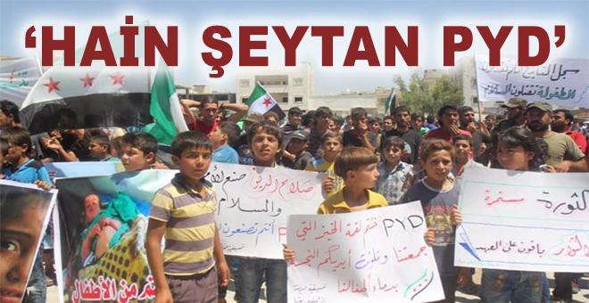 El Bab'ta terör örgütü PKK/PYD karşıtı gösteri!