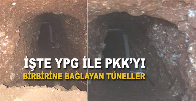 YPG ile PKK'yı birbirine bağlayan tüneller ortaya çıkarıldı!