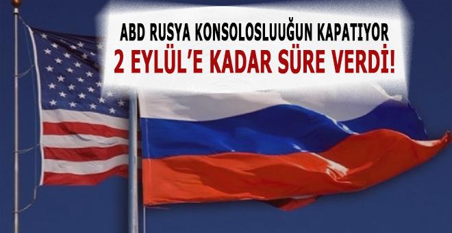 ABD, Rusya'nın Konsolosluğunu kapatıyor!