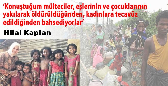 """Hilal Kaplan: """"Konuştuğum mülteciler, eşlerinin veya çocuklarının yakılarak öldürüldüğünü söylüyorlar!"""""""