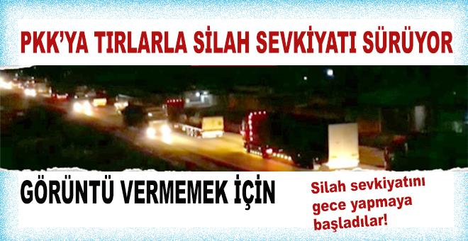 ABD'nin PKK'ya Tırlarla silah sevkiyatı sürüyor!