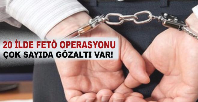 Kocaeli merkezli 20 ilde FETÖ operasyonu!