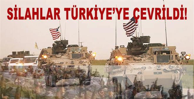 Silahlar Türkiye'ye çevrildi