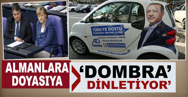 """Türk ve Erdoğan düşmanı Almanlara; Doyasıya """"Dombra"""" dinletiyor!"""