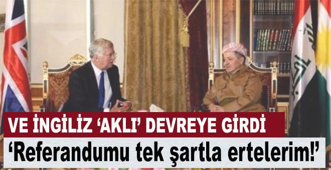 """Barzani; """"Referandum'u tek şartla ertelerim!"""""""