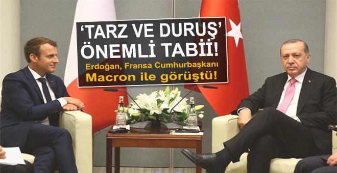 Cumhurbaşkanı Erdoğan, Fransa Cumhurbaşkanı Macron ile görüştü!