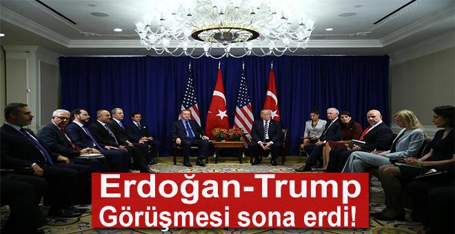 Erdoğan ile Trump görüşmesi sona erdi!
