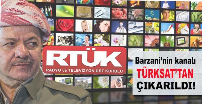Barzani'nin kanalı Türksat'tan çıkarıldı!