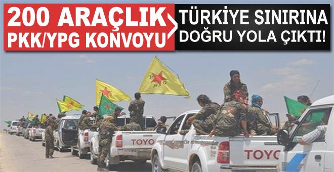 200 araçlık YPG konvoyu Türkiye sınırına doğru yola çıktı!
