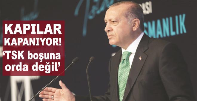 """Cumhurbaşkanı Erdoğan; """"Silahlı Kuvvetler orada gerekli adımları boşuna atmadı!"""""""