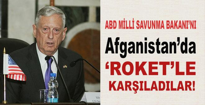 ABD Savunma Bakanı'nın indiği havaalanına roket atıldı!
