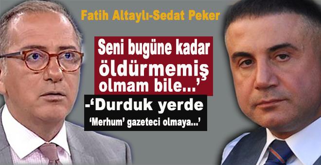 Fatih Altaylı, Sedat Peker'e cevab verdi!