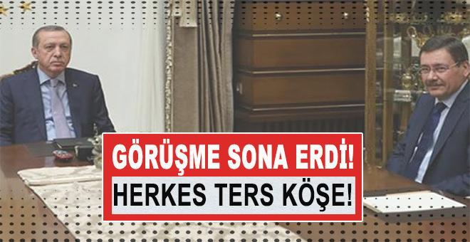 Melin Gökçek ve Cumhurbaşkanı Erdoğan arasındaki görüşme sona erdi; Herkes ters köşe!