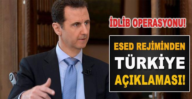 Esed rejiminden Türkiye açıklaması!