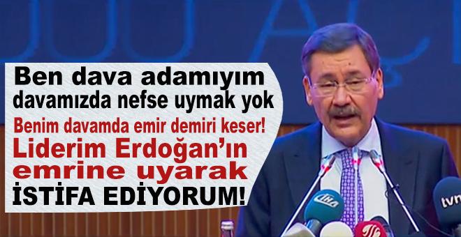 """Melih Gökçek: """"Liderimiz Recep Tayyip Erdoğan'ın emrine uyarak Belediye Başkanlığını bırakıyorum!"""""""