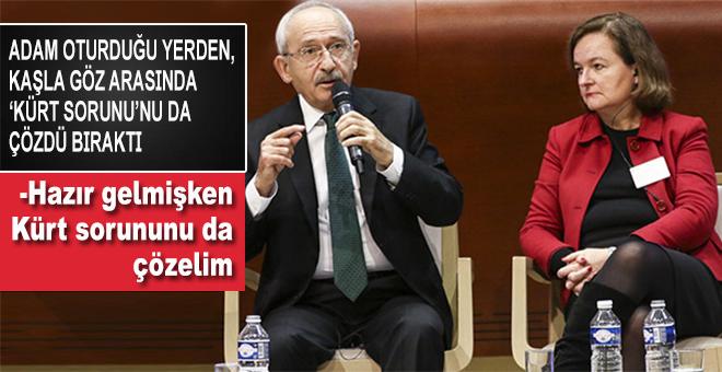 Avrupa Komisyonu'nda soruları cevaplayan Kılıçdaroğlu; Kürt sorunun çözdü bıraktı!