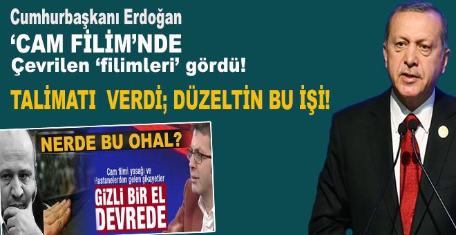 """Cumhurbaşkanı Erdoğan'dan """"Cam filmi"""" talimâtı!"""