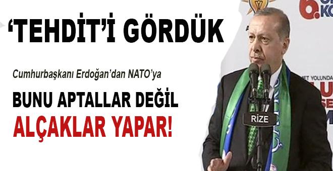 Erdoğan'dan NATO'ya: Bazı yanlışları aptallar değil, alçaklar yapar!