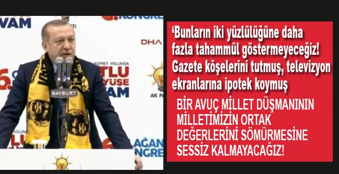 """Cumhurbaşkanı Erdoğan: """"Bunların ikiyüzlülüğüne daha fazla tahammül göstermeyeceğiz!"""""""