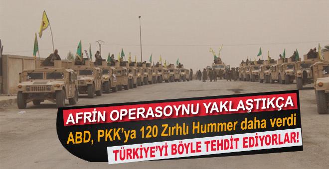Afrin operasyonu yaklaştıkça, Türkiye'yi böyle tehdit ediyorlar!