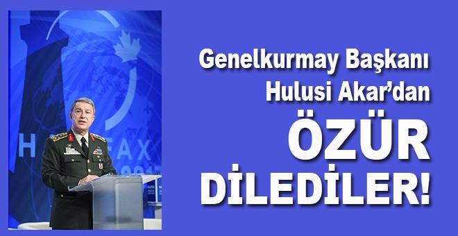 Genelkurmay Başkanı Hulusi Akar'dan özür dilediler!
