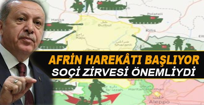 Erdoğan Afrin harekâtının başlayacağının sinyalini verdi!