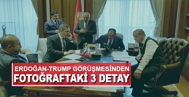 Erdoğan-Trump görüşmesinde dikkat çeken fotoğraf!