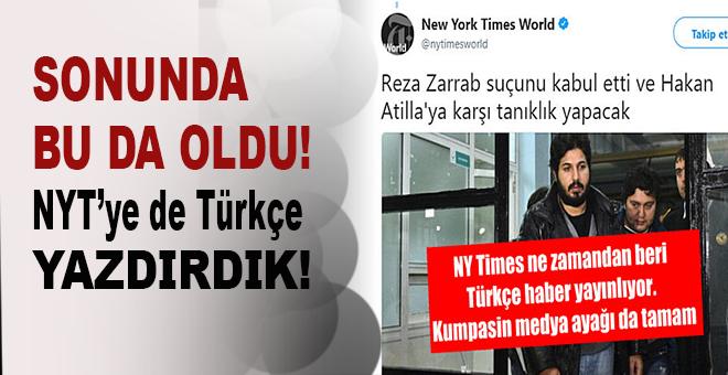 Sonunda bu da oldu: New York Times Türkçe başlık attı..