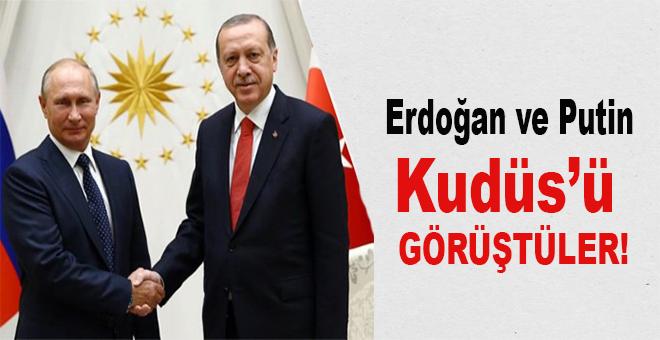 Cumhurbaşkanı Erdoğan, Rusya lideri Putin'le ABD'nin Kudüs kararını görüştü!