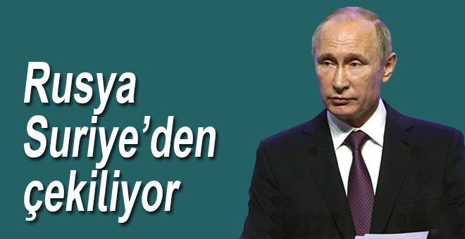 Rus askerleri Suriye'den çekiliyor