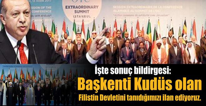 Türkiye-Erdoğan öncülüğünde toplanan İİT Zirvesi'nden tarihi karar!