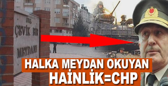 CHP'nin halka meydan okuyan hainliği!