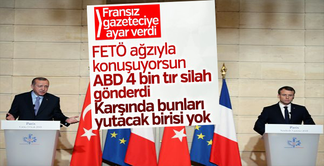 """Erdoğan'dan sert ayar; """"FETÖ ağzıyla konuşuyorsun, ABD'nin gönderdiği silahları niye sormuyorsun!"""""""