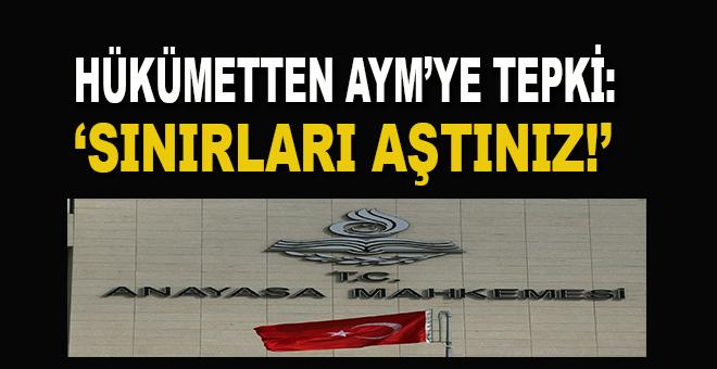 Bozdağ'dan AYM'ye tepki: Sınırı aştınız!