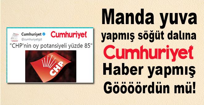 """""""Cumhuriyet"""" haber yapmış gördün mü?"""