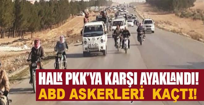 Halk PKK'ya karşı ayaklandı, ABD askerleri kaçtı!