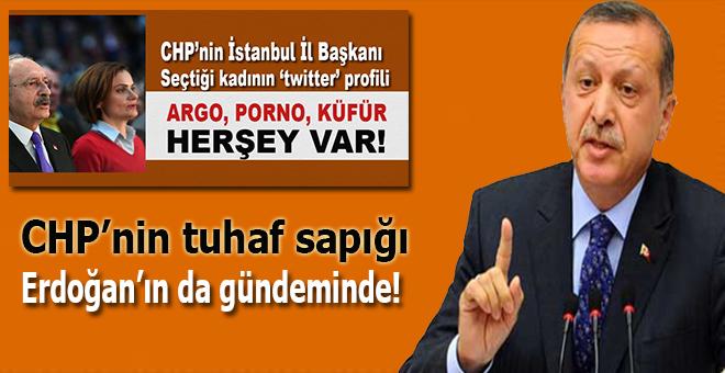 CHP'nin yeni tuhaf sapığı Erdoğan'ın da gündemindeydi!