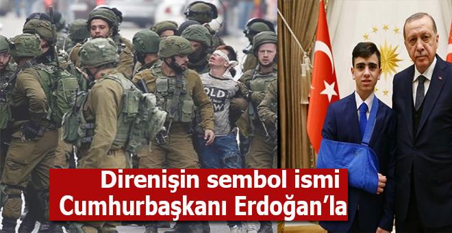 Kudüs direnişinin sembol ismi Cuneydi Beştepe'de Erdoğan'ın konuğu oldu!