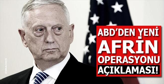 ABD'den yeni Afrin operasyonu açıklaması!