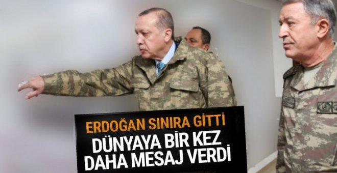Cumhurbaşkanı Recep Tayyip Erdoğan Suriye sınırında!
